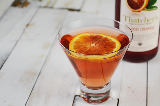 Thatcher's Organic Blood Orange Martini