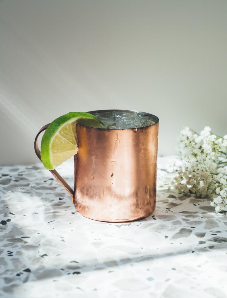elderflower mule cocktail